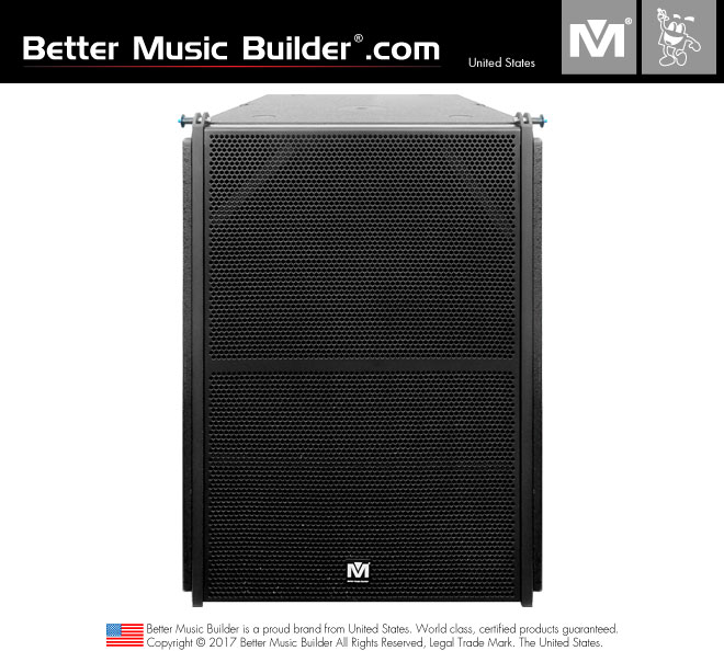 Better Music Builder (M) R-18 Active/Powered Subwoofer 1200W (Line Array)