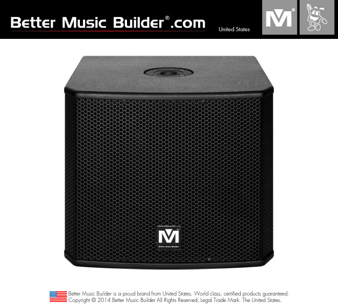Better Music Builder (M) DFS-115 SUB 2.1 Bass Powered Subwoofer 800W (Each)