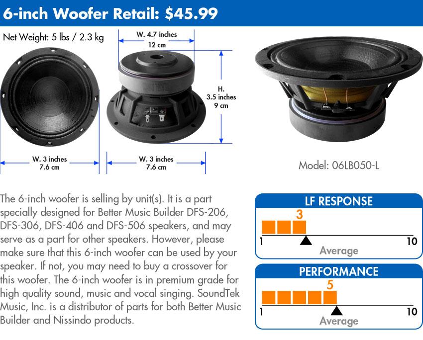 Woofer 6-inch