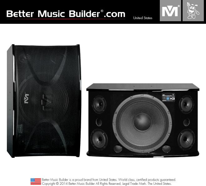 Better Music Builder (M) CS-812 G3 Pro Karaoke Speakers Piano Wood (Pair)