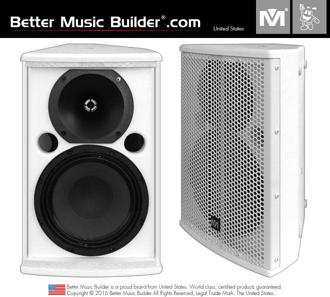 Better Music Builder (M) DFS-908 2-Way Full Range Speaker 200 Watts - White Color (Pair)