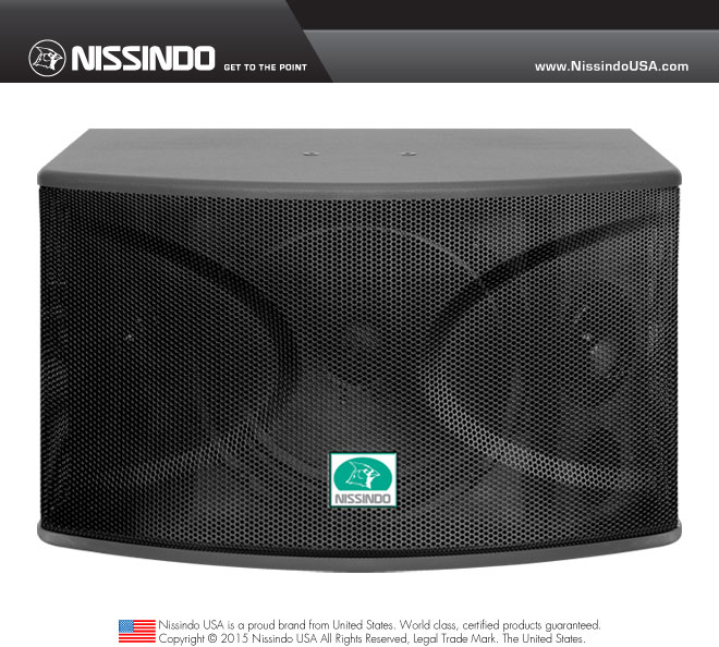 Nissindo CS-10 Professional 720 Watts Vocal Karaoke Speaker System (Pair)