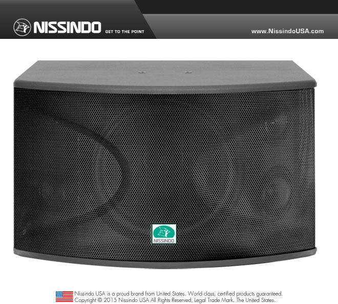 Nissindo CS-12 Professional 1000 Watts Vocal Karaoke Speaker System (Pair)