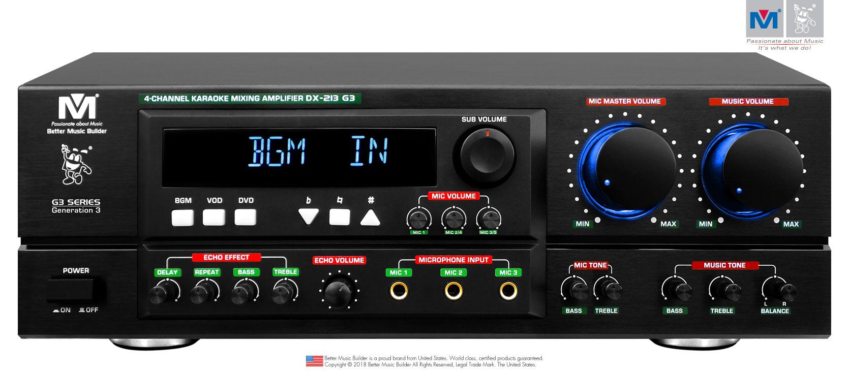 Better Music Builder (M) DX-213 G3 800W Professional Mixing Amplifier