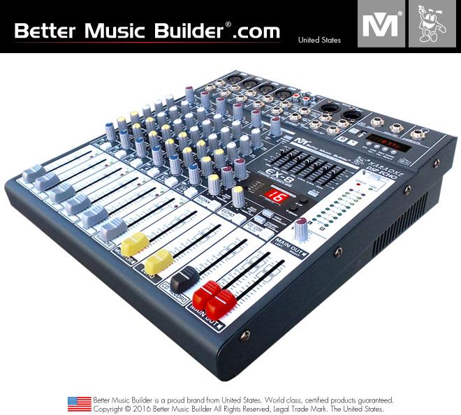 Better Music Builder (M) EX-8 8-Channel Multi Effects Mixer
