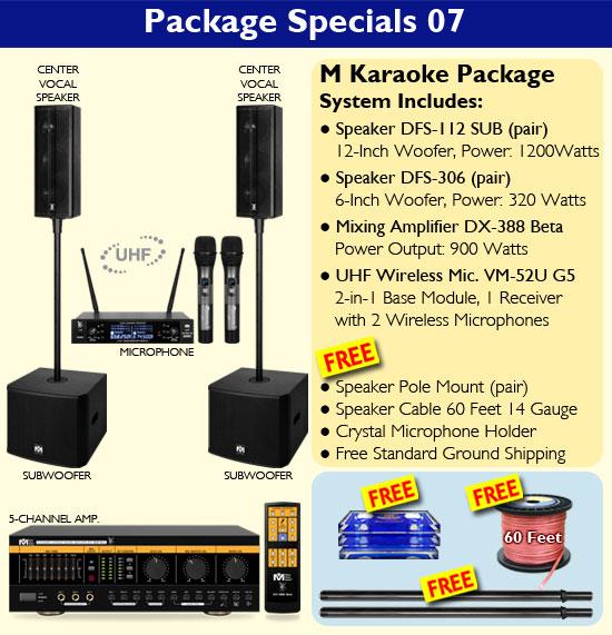 Package 07 - Better Music Builder Complete Karaoke System