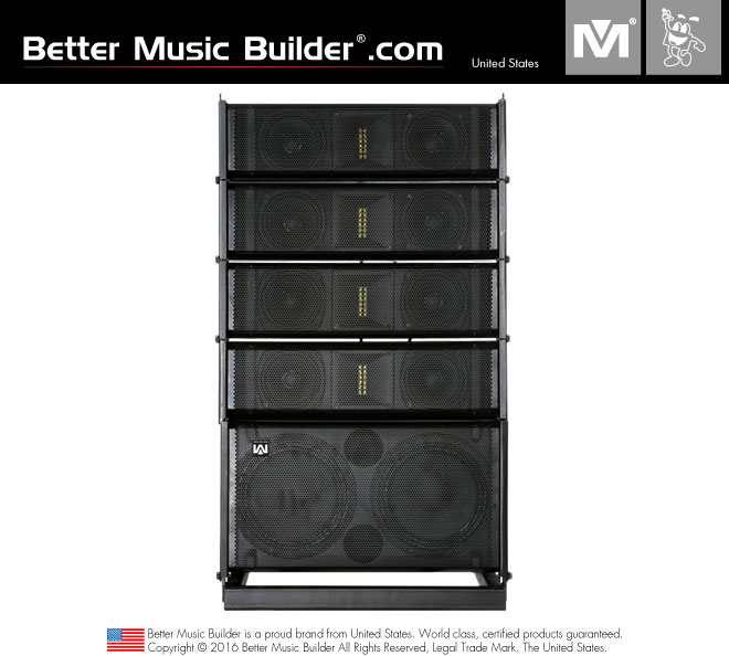 Better Music Builder (M) R4/R8 Compact Active Line Array Speakers 1100 Watts