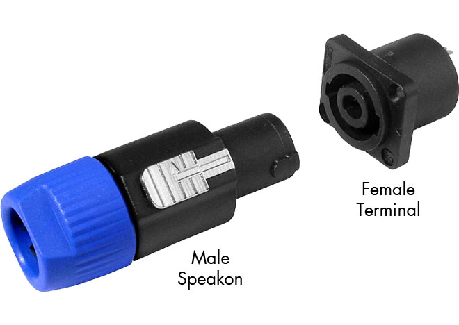 Combination of 4-Pole Speakon Connector & Panel Mount