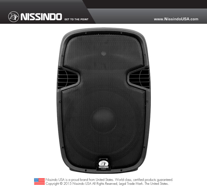 Nissindo WS-315 Professional 200W Passive/Non-Powered Speaker (Each)