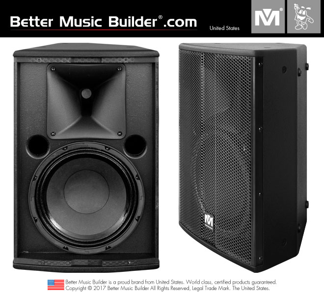 Better Music Builder (M) DFS-910 2-Way Full Range Speaker 400 Watts - Black Color (Pair)