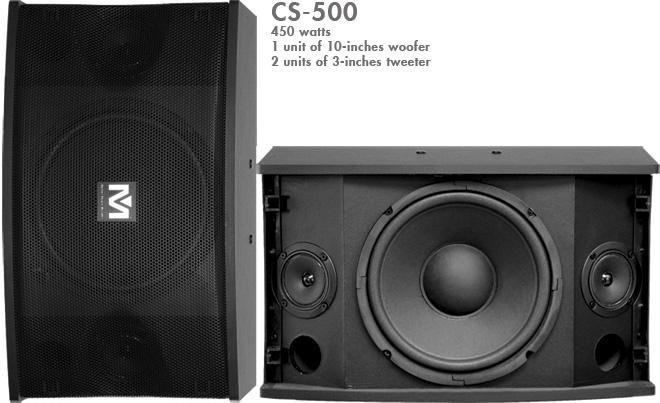 Better Music Builder (M) CS-500 Pro 450W Karaoke Speaker (Pair)