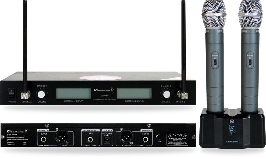 Better Music Builder (M) VM-88 Dual Channel Wireless Mic System
