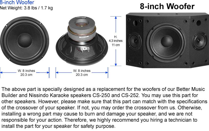 Woofer 8-inch