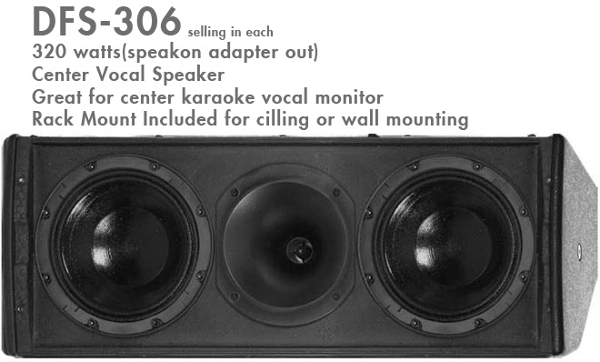 Better Music Builder (M) DFS-306 Monitor Speakers 320 Watts (Single)