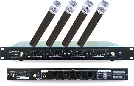 Nissindo LX-4040U 4-Channel UHF Wireless Microphone System