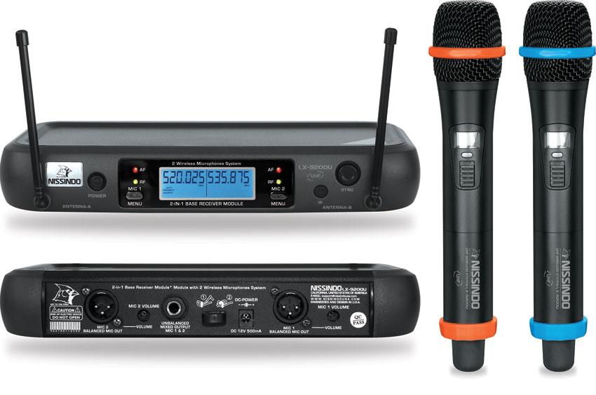 Nissindo LX-9200U Dual Channel UHF Wireless Microphone System