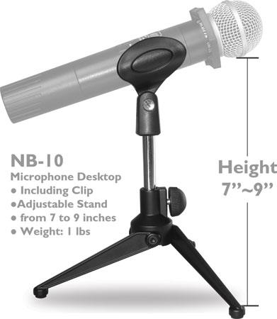 NB-10 Desktop Microphone Stand
