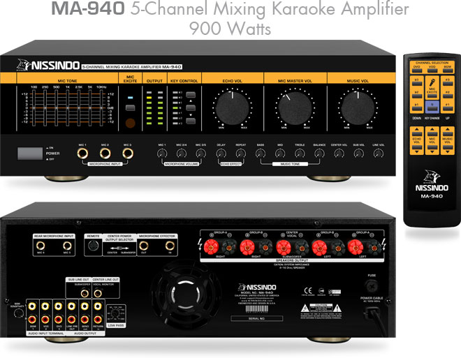 Nissindo MA-940 5-Channel Karaoke Mixing Amplifier