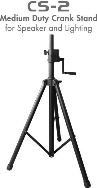 Nissindo CS-2 Medium Duty Crank Stand for Speaker & Lighting