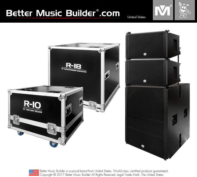 Better Music Builder (M) 2xR-10 2-Way Speaker + 1xR-18 Active/Powered Subwoofer