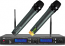 Better Music Builder (M) VM-82U G2 Dual Channel UHF Wireless Microphone System