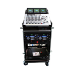 Nissindo 3LTM16C-D18 Slant Top Mixer Rack w/ 4 Casters