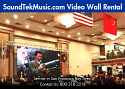 Video Wall/Display Rental 5 - Video Panel (P3) 45 pieces